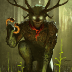 Immortal card game illustration - Cernunnos