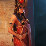 Immortal card game illustration - Hathor