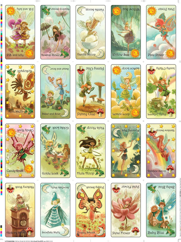 Goblins Drool, Fairies Rule! - Fairy Card Sheet