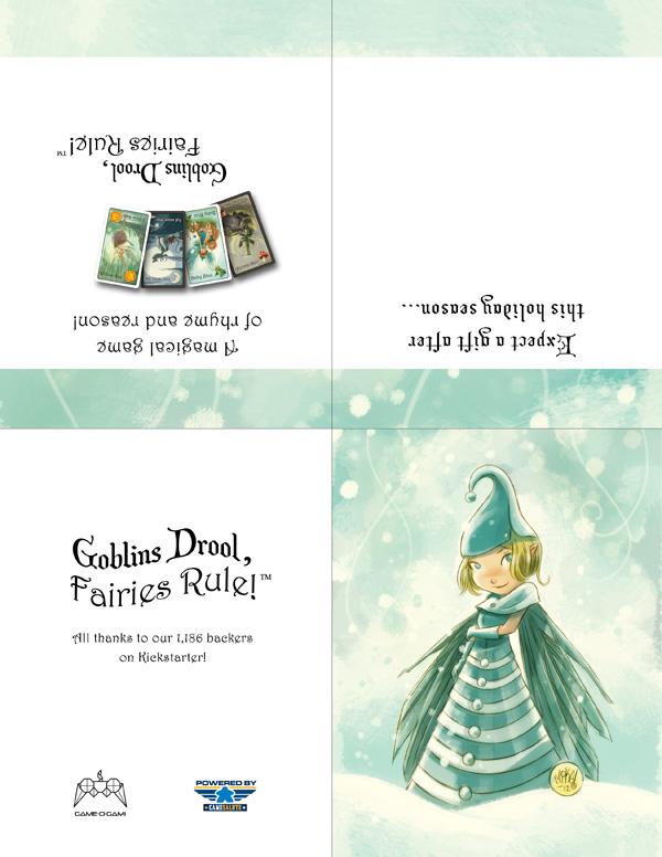 Goblins Drool, Fairies Rule! - holiday card
