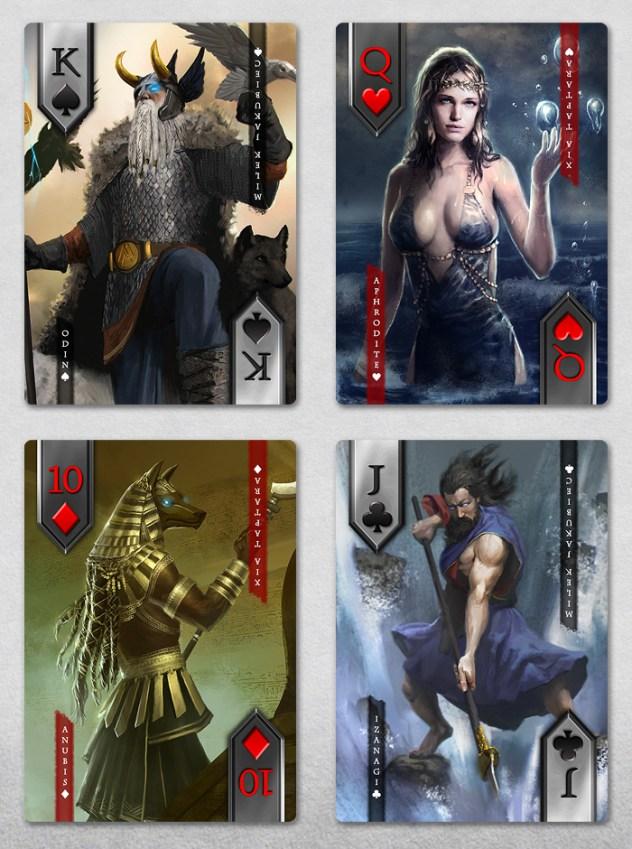 Immortal custom playing cards on Kickstarter