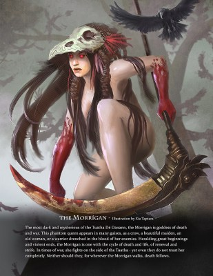 The Morrigan - Immortal art book of myths and legends by Game-O-Gami