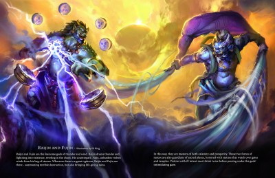 Raijin and Fujin - Immortal art book of myths and legends by Game-O-Gami