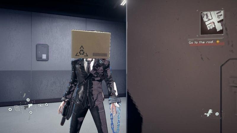 Astral chain Masque boîte en carton (Cardboard box), soluce costume et accessoires