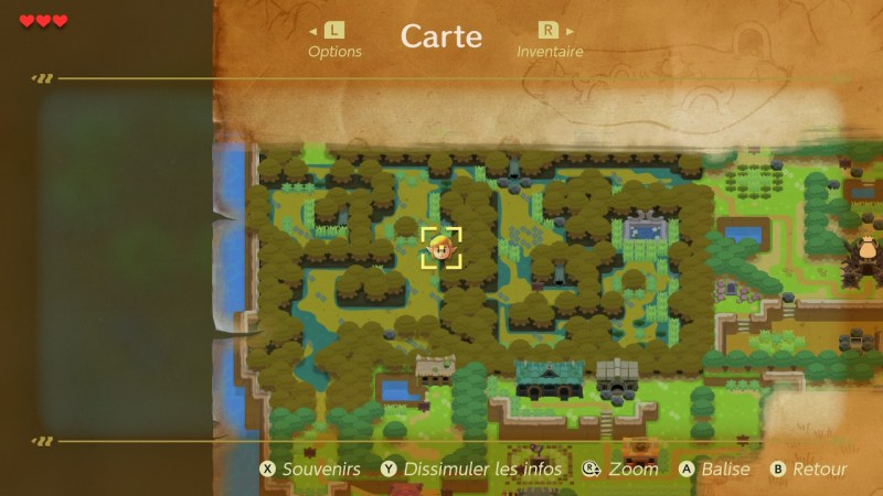 zelda Link's Awakening soluce solution fr switch cle enigme