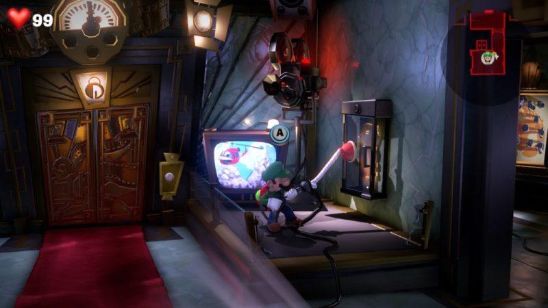 luigi mansion 3 studio cinema enigme 8 etage tele soluce solution guide