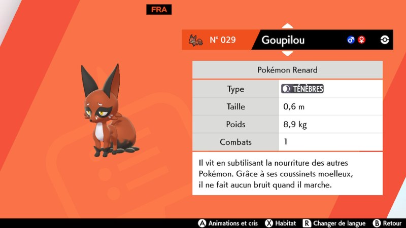 solution cheminement route 2 pokemon epee bouclier goupilou emplacement