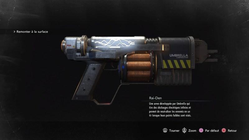 resident evil 3 remake, soluce et guide des arme, rai-den emplacement