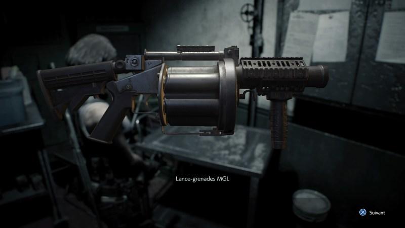 resident evil 3 remake, soluce et guide des arme, lance-grenade MGL emplacement