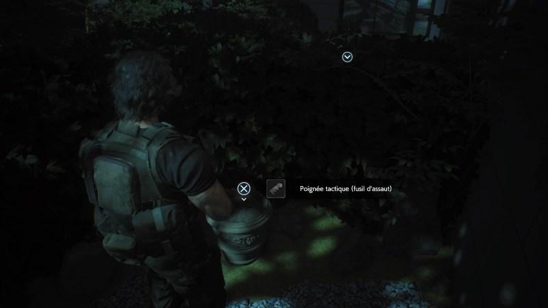 resident evil 3 remake, soluce et guide des arme, poignée tactique fusil d'assaut cqrb emplacement