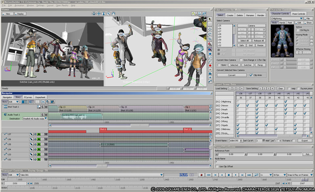 Final Fantasy XIII in Motionbuilder