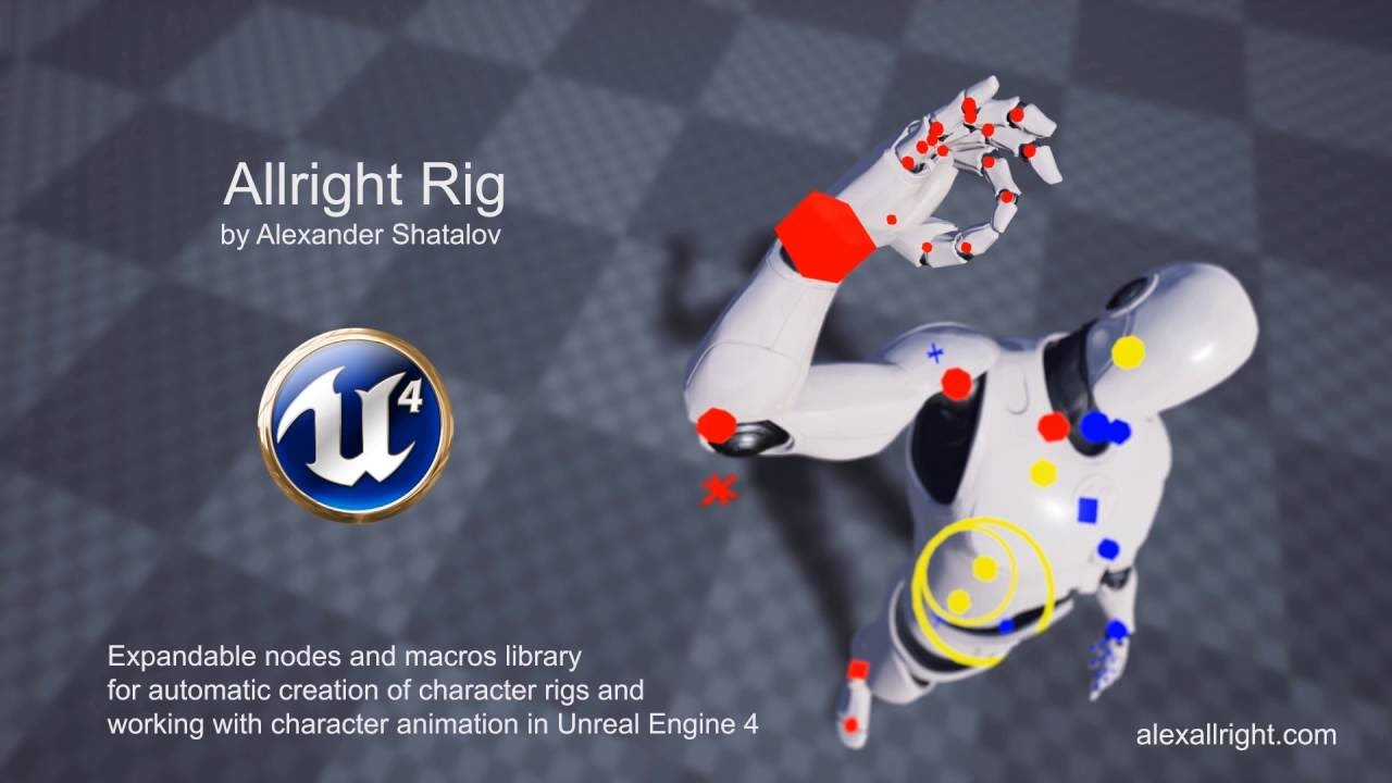 Allright rig free unreal engine 4 animation rig game anim malvernweather Choice Image