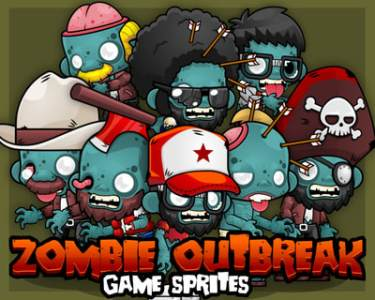Character Spritesheet   Game Art 2D The zombies just entering our town  Arms yourself   Price   18
