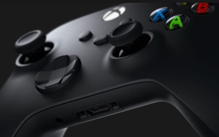 Xbox series x controller close up