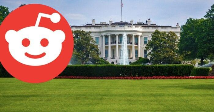 white house, reddit logo