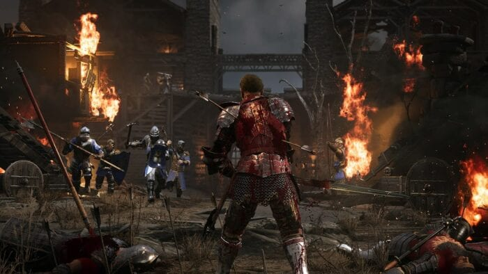 An image of Chivalry 2 showing the back of a soldier