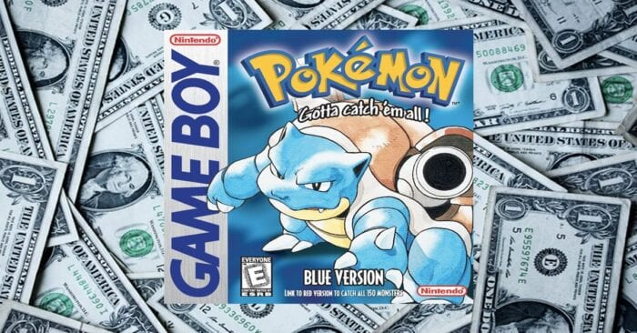pokemon blue money
