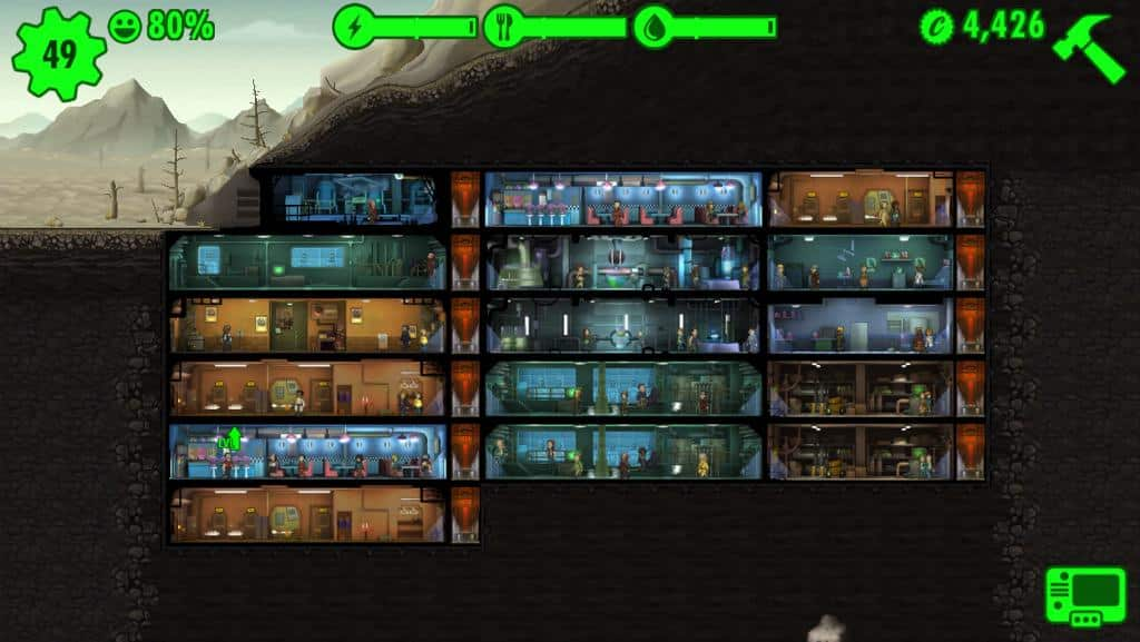 Fallout Shelter base layout