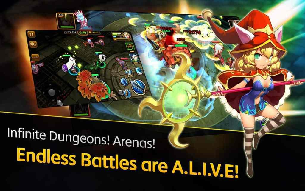 Dungeon Hunter Super Brawl Infinite dungeons