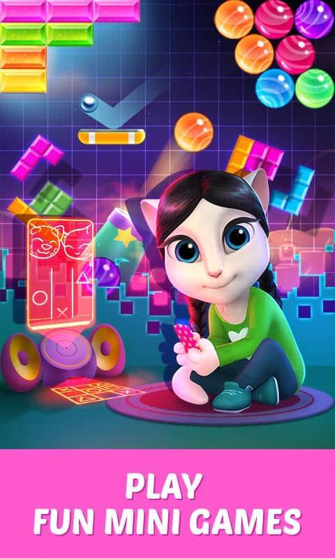 My Talking Angela mini games