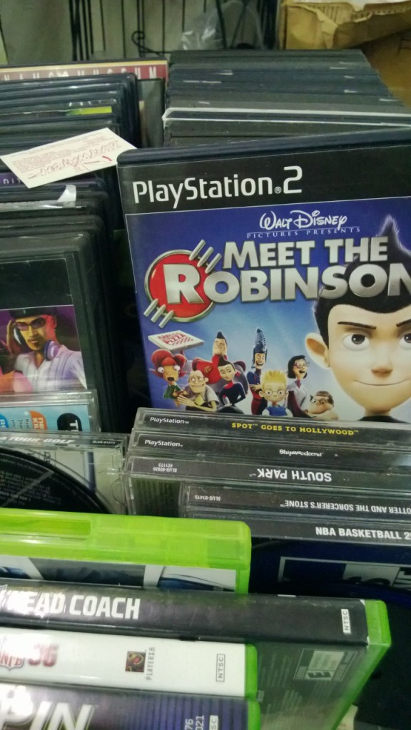 This particular vendor had an inordinate number of copies of Meet the Robinsons. I liked the movie but I never played the game.