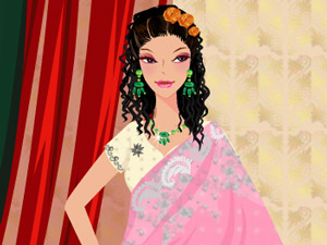 Punjabi Wedding Dress Up Games In Sarees Design Your