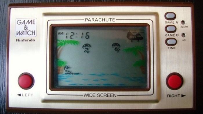Parachute, un des premiers jeu Game And Watch (sérieux comment je l'avais saigné ce jeu....)