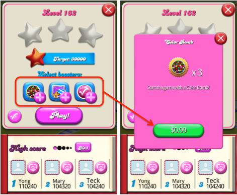 Candy Crush Saga User Flow