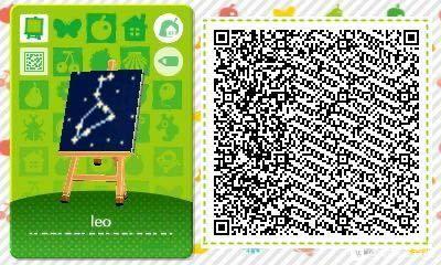 動物森友會 十二星座圖案QR碼分享