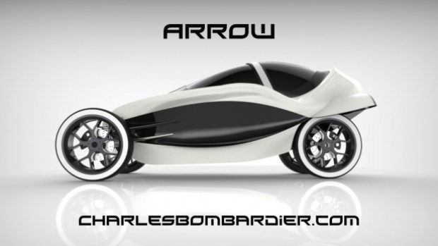 Arrow Is A Fighter Plane Shaped Electric Car