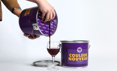 Discreet Boozing: Wine in a Paint Bucket By Hazel Chua | April 8, 2014 @ 7:00 AM Alcohol doesn't make the world go round, although it definitely makes life more colorful. Taking this literally is Lithuania-based ad agency McCann Vilnius, who came up with a design concept that gets rid of typical wine bottles and replaces it with a paint bucket! It's only a concept so we'll probably never see wine sold in these cans unless a winemaker actually decides to go for it. The idea behind the unusual packaging was this: aside from intoxicating, wine can also 'color' and 'paint' the teeth of the drinker. There's even a handy chart on the side instructing how much wine you should drink to go through various shades of purple.