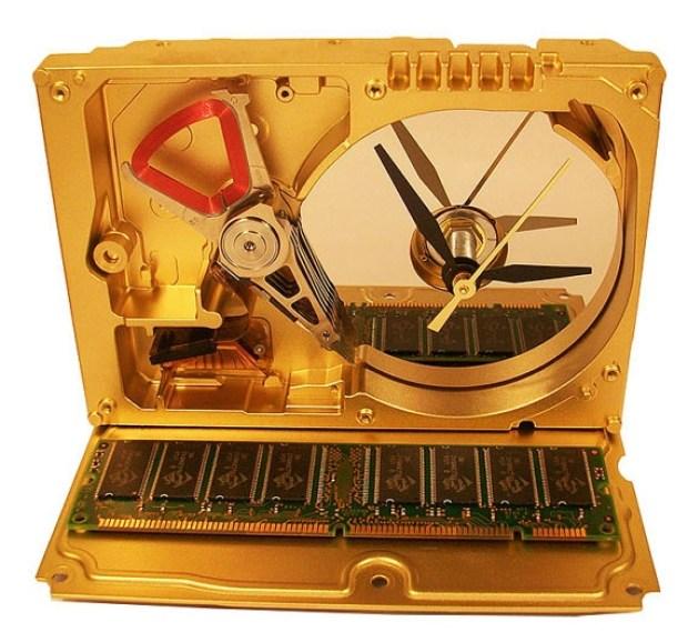Recycled Hard Drive Clocks