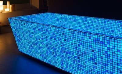 Blue Photo Luminescent Mosaic Tiles