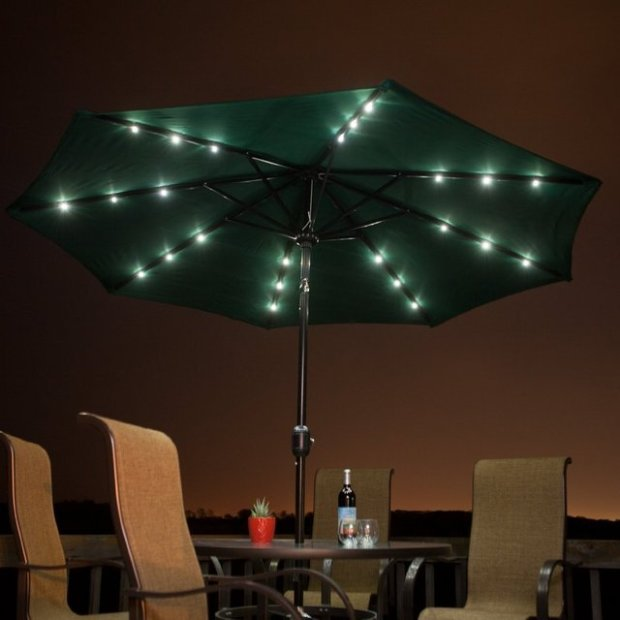 Solar Powered Patio Umbrella