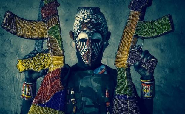 AK-47 Built From Beads