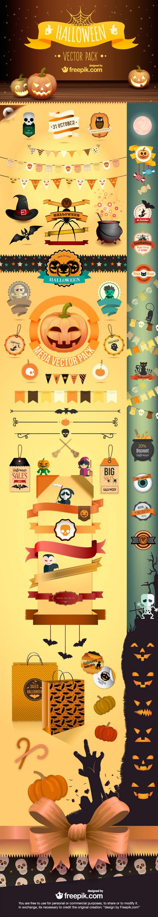 Free download: Halloween vector pack