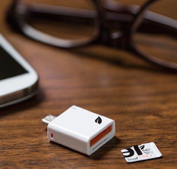 The Leef Access microSD Card Reader
