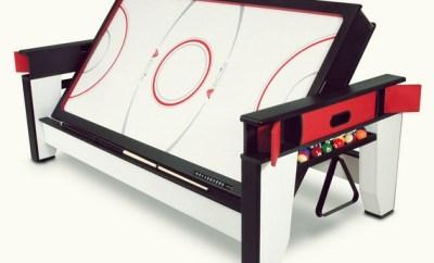 Rotating Air Hockey And Billiards Table