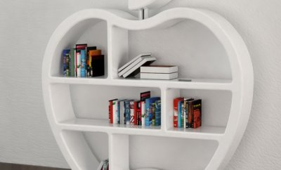 Apple Bookcase For Apple Fanboys