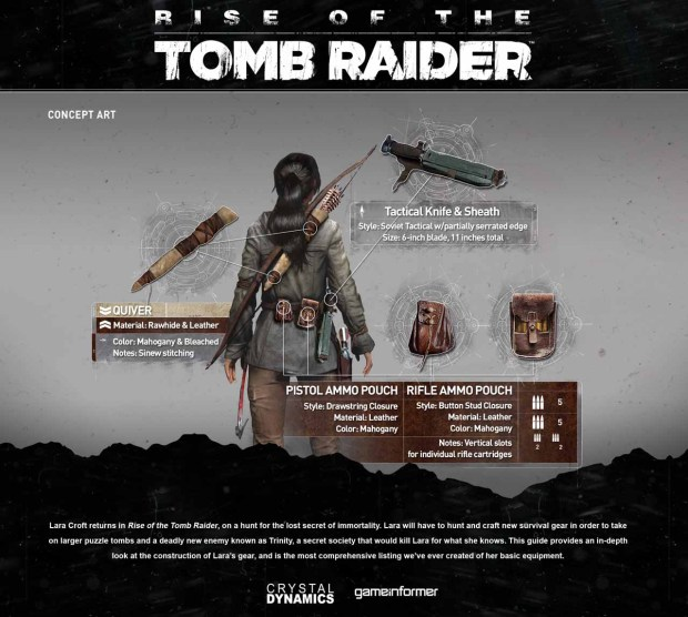 Rise of the Tomb Raider Gear Concept Art
