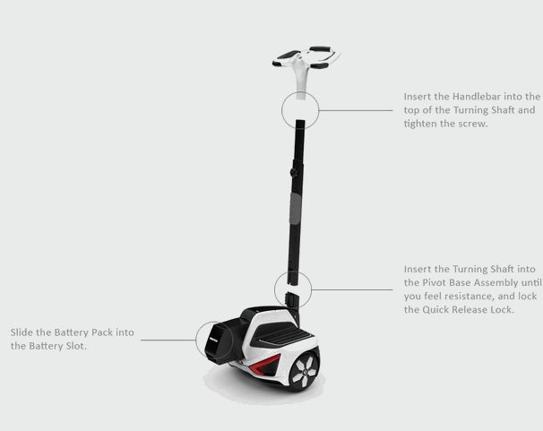 Self Balancing Electric Sensor Controlled Vehicle