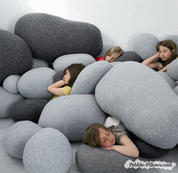 Pebble Pillows Looks Like Giant Rocks
