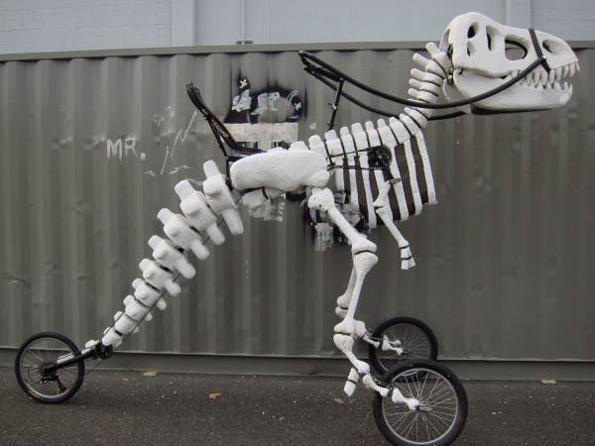 Skeleton T-Rex Bike