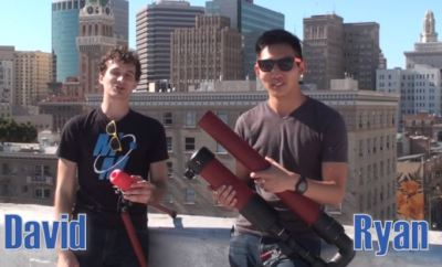 Custom Air Cannon and 3D-Printed Projectile Will Launch GoPro Into The Air