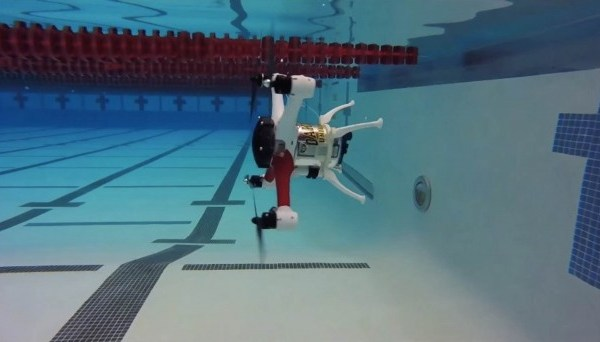 Drone Which Can Fly, Float And Dive Underwater