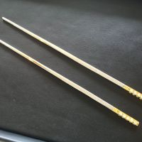 $17,000 Gold-Plated With 4-Carat Round Diamonds Chopsticks