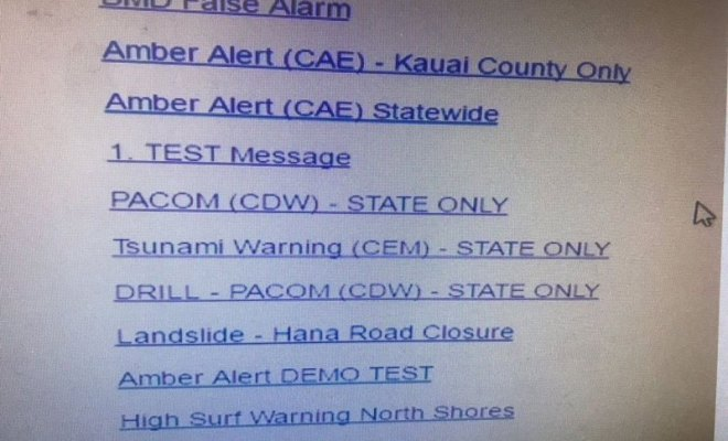 Hawaii's Emergency Warning System