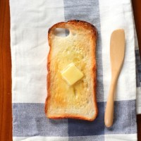 Smart Buttered Toast iPhone Case That Always Land Butter Side Down Saving Screens Due To Murphy's Law