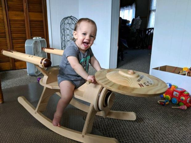 Star Trek USS Enterprise Rocking Horse