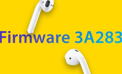 AirPods Firmware to Version 3A283